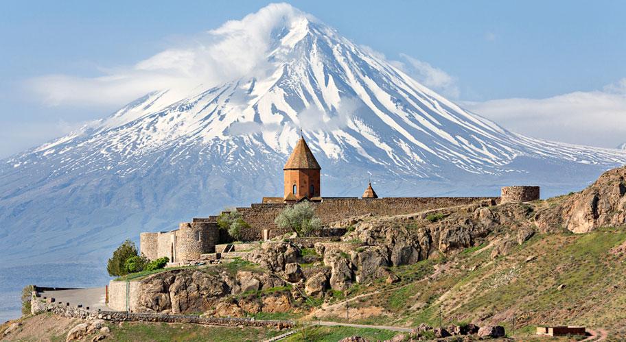 Khor Virap Kirche Armenien Gebirge