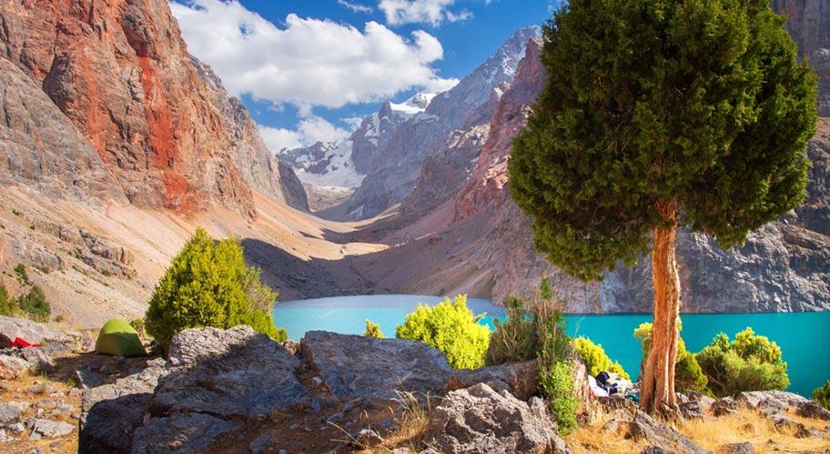 Fan Gebirge Bergsee Tadschikistan