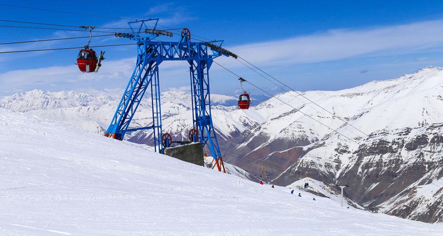 Iran Skigebiet Gondelbahn