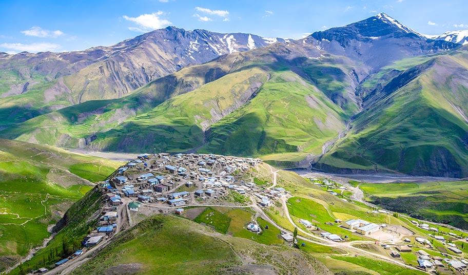 Kaukasus Reise Bergdorf Xinaliq