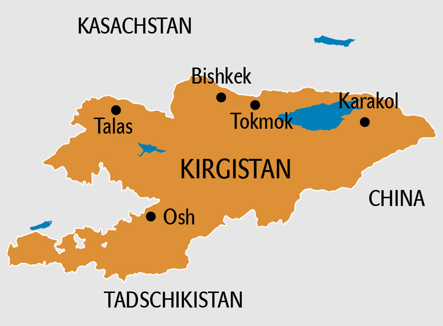 Kirgistan Karte, Landkarte