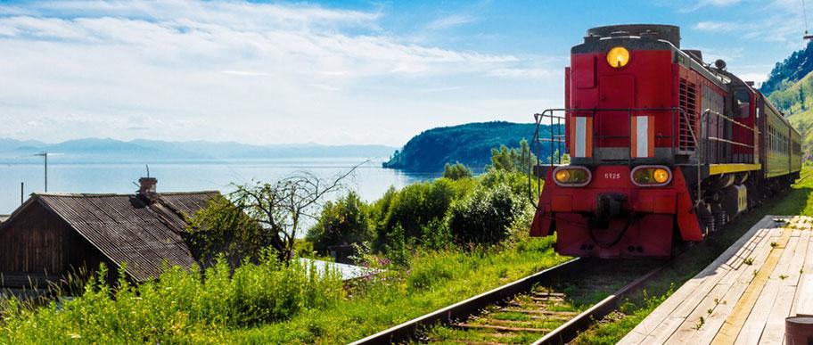 Im Zug entlang der Seidenstrasse