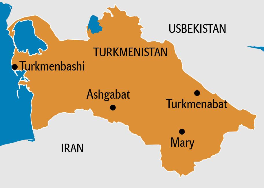 Turkmenistan Karte, Landkarte Turmenistan